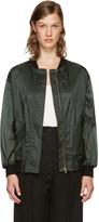 Burberry Green Lightweight Bomber Jacket