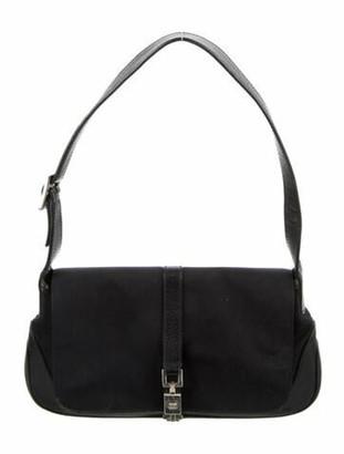 Gucci Leather-Trimmed Nylon Jackie Pochette Black