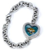 Game Time NFL Women's FH-JAC Heart Collection Jacksonville Jaguars Watch