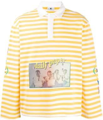 Daily Paper Folo striped polo shirt