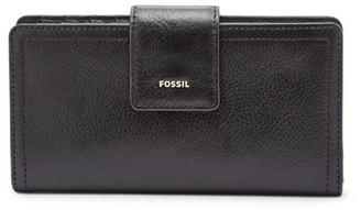 Fossil Logan Rfid Tab Clutch Wallet Black