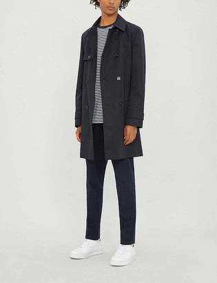 HUGO BOSS Double-breasted woven trench coat
