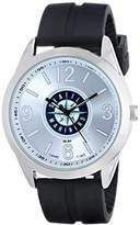Game Time Men's MLB-VAR-SEA Varsity Analog Display Japanese Quartz Black Watch