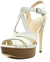GUESS Kymma Women Open Toe Leather White Platform Heel.