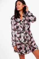 boohoo Jasmine Printed Kimono Robe