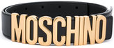 Moschino logo plaque belt - women - Calf Leather - 80