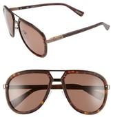 Lanvin Men's Aviator Sunglasses - Dark Havana/ Brown