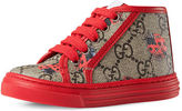 Gucci California GG Supreme Printed High-Top Sneaker, Toddler