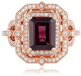 Effy Jewelry Effy Bordeaux 14K Rose Gold Rhodolite Garnet and Diamond Ring, 2.89 TCW