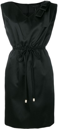 Marc Jacobs belted bow-embellished dress