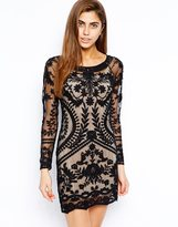 Goldie All Over Lace Body-Conscious Dress