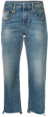 R 13 Cropped Straight-Leg Jeans