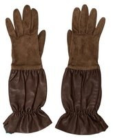 Hermes Pleated Leather Gloves
