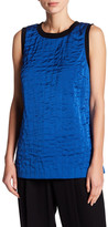 DKNY Quilted Silk Blend Tank