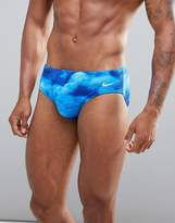 Nike Swimming Brief In Blue Cloud Print Ness7103-494