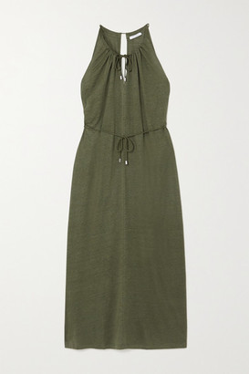 Ninety Percent Linen Midi Dress - Green