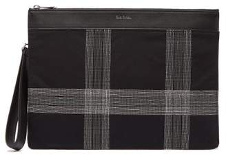 Paul Smith Check Embroidered Canvas Pouch - Mens - Black
