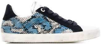 Zadig & Voltaire Zadig&Voltaire low top used painted sneakers