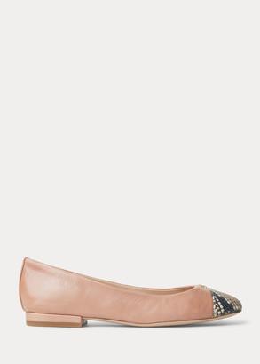 Ralph Lauren Gaines Leather Flat