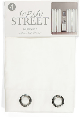 Set Of 4 Textured Grommet Curtains