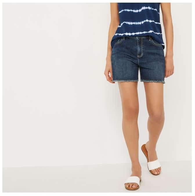 d04492abe430 Dark Wash Denim Shorts - ShopStyle Canada