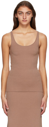 Totême Tan Wool Urda Tank Top