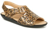 Naturalizer Scout Leather Leopard Print Sandal - Wide Width Available