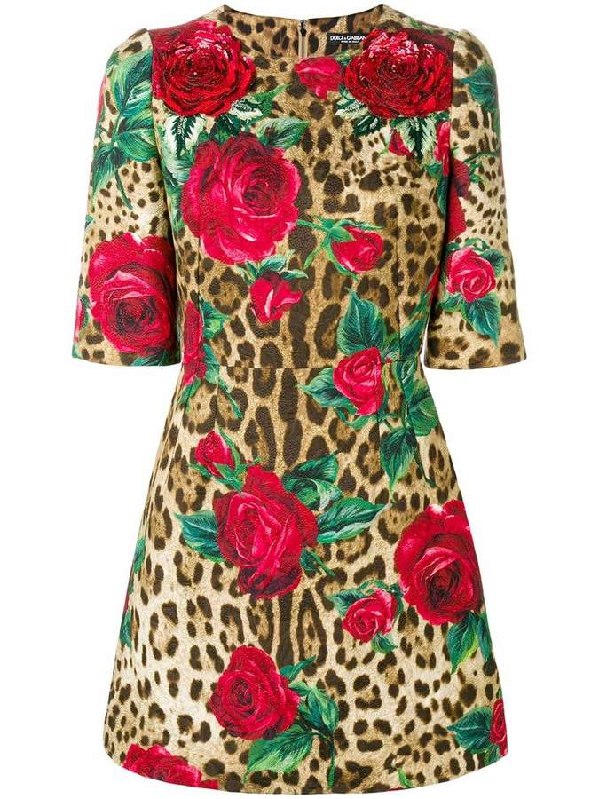 181b84ff003 Rose Leopard Print Dress