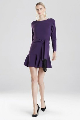 Natori Crepe Dress With Fringe Belt