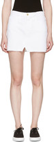 Frame White Denim 'Le Mini Split Front' Miniskirt