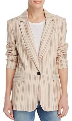 Joie Kishina Laced-Cuffs Striped Blazer