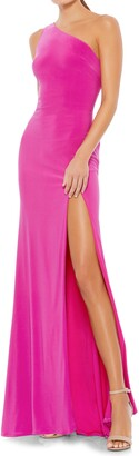Mac Duggal One Shoulder Jersey Sheath Gown