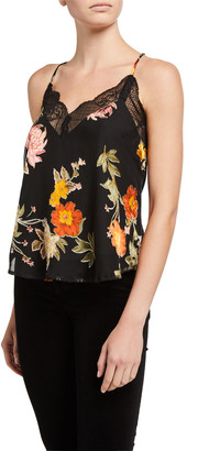 Astr Ceci Floral Cami with Lace