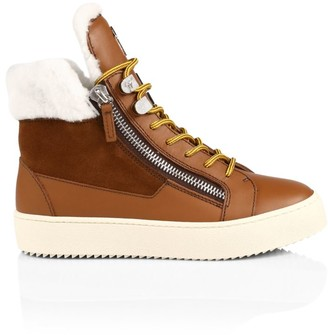 Giuseppe Zanotti Kris Double-Zip Shearling Sneakers