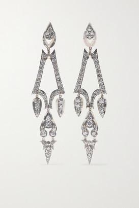 Sylva & Cie 18-karat White Gold Diamond Earrings