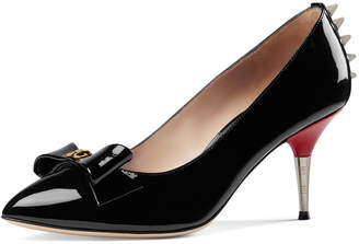 Gucci Patent Leather Spiked Pumps