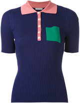 Moncler colour block polo shirt - women - Silk - XS