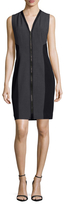 T Tahari Primavera Colorblocked Sheath Dress