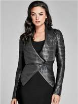 GUESS by Marciano Women's Shayna Drape Leather Jacket