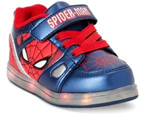Spiderman Marvel Toddler Boys Casual Shoes with Hook and Loop Strap