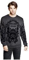 GUESS Men's Nix Luxe Flocked Sweatshirt