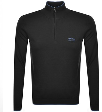 Boss Athleisure BOSS Ziston Half Zip Knitted Jumper Black