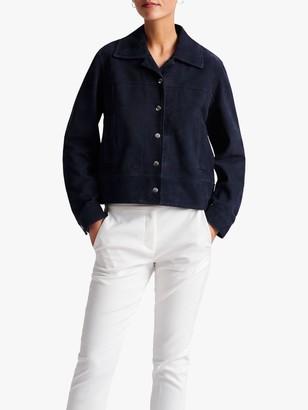 Gerard Darel Germana Suede Jacket, Blue