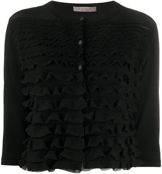 D-Exterior Ruffled Knitted Top