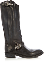 Golden Goose Deluxe Brand Biker-H distressed-leather flat boots