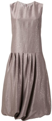 PASKAL clothes pleated sequin midi dress