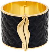 Diane von Furstenberg Frankie Leather Wide Hinge Bangle