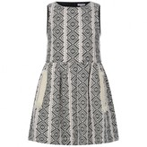 Chloé ChloeGirls Black & White Jacquard Dress