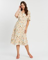 Mng Floral Wrap Dress
