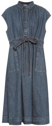 Co Drawstring-waist denim dress